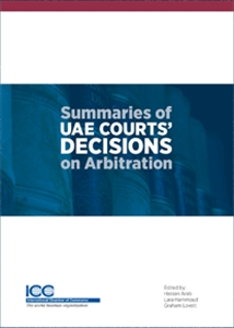 Couverture  Summaries of UAE Courts' Decisions on Arbitration